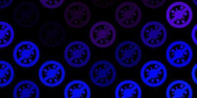 modèle vectoriel rose foncé, bleu avec des signes de grippe.