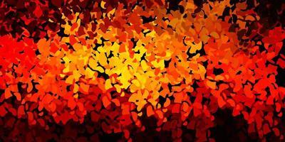 modèle vectoriel orange foncé avec des formes abstraites.