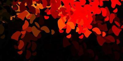 toile de fond de vecteur orange foncé avec des formes chaotiques.