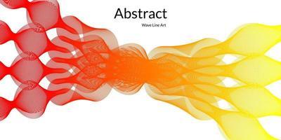 fond abstrait moderne avec des lignes ondulées en dégradés rouges et jaunes vecteur