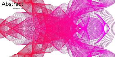 fond abstrait moderne avec des lignes ondulées en dégradés violets et rouges vecteur
