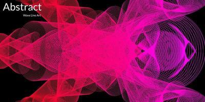 abstrait moderne avec des lignes ondulées dans des dégradés violets et rouges. dessin au trait de vague, design lisse incurvé. illustration vectorielle vecteur