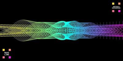 abstrait moderne avec des lignes ondulées colorées vecteur