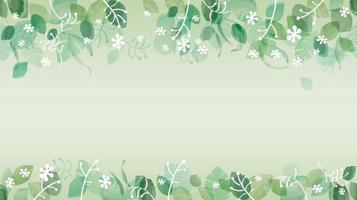 fond vert frais aquarelle transparente avec espace de texte, illustration vectorielle. vecteur