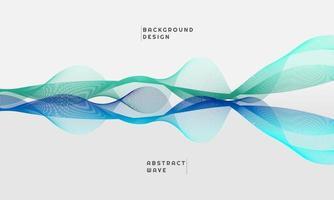 Élément de vague abstraite pour la conception, en dégradé de couleur vert et bleu vecteur