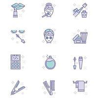 icônes de beauté et de maquillage vecteur