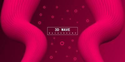 fond 3d liquide abstrait moderne avec dégradé rose vecteur