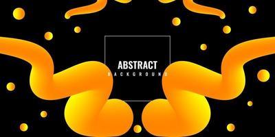 fond 3d liquide abstrait moderne avec dégradé jaune vecteur