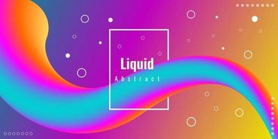 fond 3d liquide abstrait moderne avec dégradé coloré vecteur