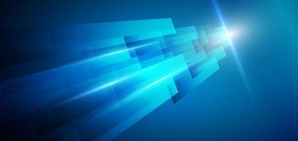 modèle abstrait rayures bleues géométriques fond diagonal couches superposées décor effet de lumière avec un espace pour le texte. concept technologique. vecteur