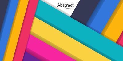 fond coloré de rectangle géométrique abstrait moderne vecteur