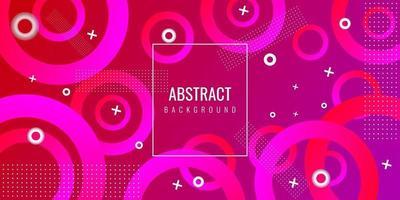 abstrait géométrique moderne avec cercle vecteur
