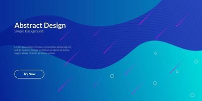 moderne abstrait bleu dégradé géométrique vecteur