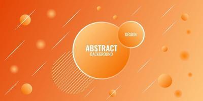 géométrique abstrait dégradé orange moderne vecteur
