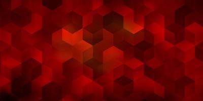 disposition de vecteur orange clair avec des formes hexagonales.