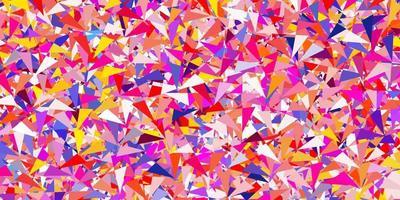 modèle vectoriel multicolore clair avec des formes polygonales.