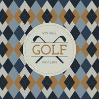 Motif de golf vintage vecteur