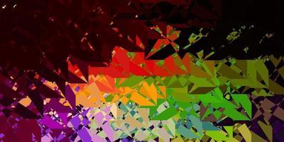 modèle vectoriel multicolore foncé avec des formes triangulaires.