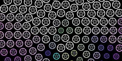 modèle vectoriel rose foncé, vert avec des éléments magiques.