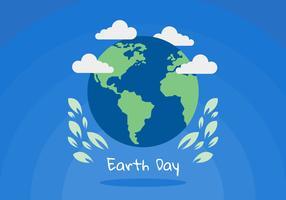 Vecteurs de jour de la terre paisiblement vecteur