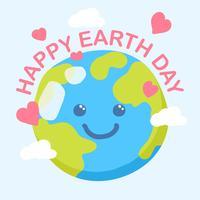 Contexte de la journée Happy Earth vecteur