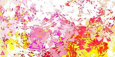 modèle vectoriel rose clair, jaune avec des formes polygonales.