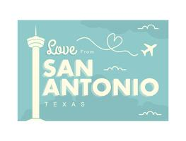 San Antonio Carte postale Illustration vecteur