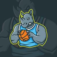 Mascotte de basket-ball vecteur
