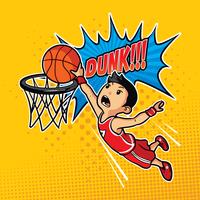 Illustration de Slam Dunk vecteur