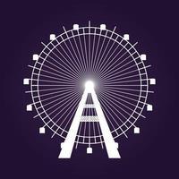 icône de la grande roue. illustration vectorielle. vecteur