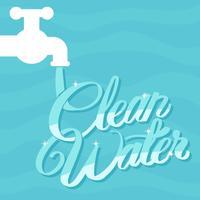 Affiche de plaidoyer pour l'eau propre vecteur