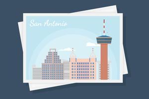 Sam Antonio Vecteurs de carte postale vecteur