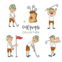 collection de gens de golf vecteur