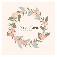 Cadre Floral Vintage vecteur