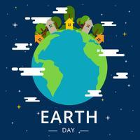Illustration vectorielle de la terre jour