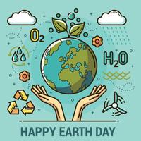 Illustration du jour de la terre vecteur