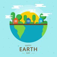 Illustration vectorielle de la terre jour vecteur