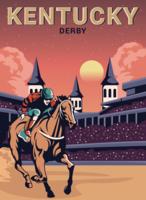 Carte postale de derby du Kentucky vecteur