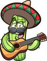 cactus chantant mexicain vecteur