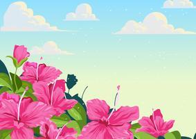 Fond de fleurs d'azalée vecteur