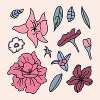 Fleurs d'azalée rose vecteur