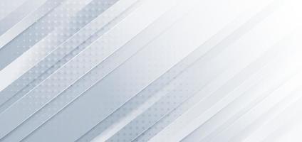 Abstrait diagonale gris clair argenté avec texture de décoration dot. vecteur