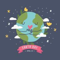 Aimer la terre vecteur