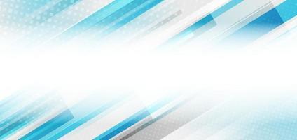 rayures bleues et blanches abstraites lignes géométriques diagonales motif fond de concept de technologie avec espace de copie pour le texte.