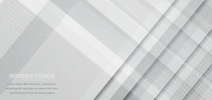 bannière design géométrique blanc gris chevauchant fond avec espace de copie pour le texte. vecteur
