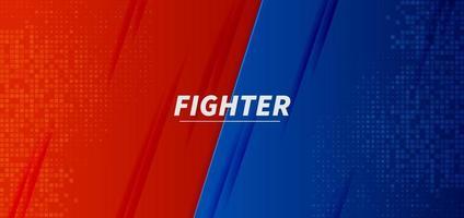 vs vs combat bataille conception d'écran de fond rouge et bleu. vecteur