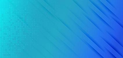 bannière abstraite rayures diagonales bleu vif de fond avec motif carré. vecteur