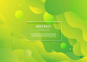 fond géométrique abstrait. forme liquide. motif minimal. fond de conception de couleurs dégradé vert. concept moderne avec dégradé vibrant. vecteur