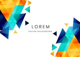 modèle de conception abstraite triangles colorés modernes sur fond blanc avec espace de copie pour le texte. vecteur