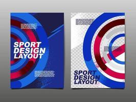 mise en page de conception de sport, conception de modèle, fond de sport, affiche dynamique, bannière de vitesse de brosse, illustration vectorielle.
